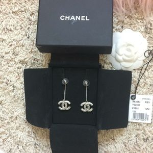 Chanel Crystal drop earrings